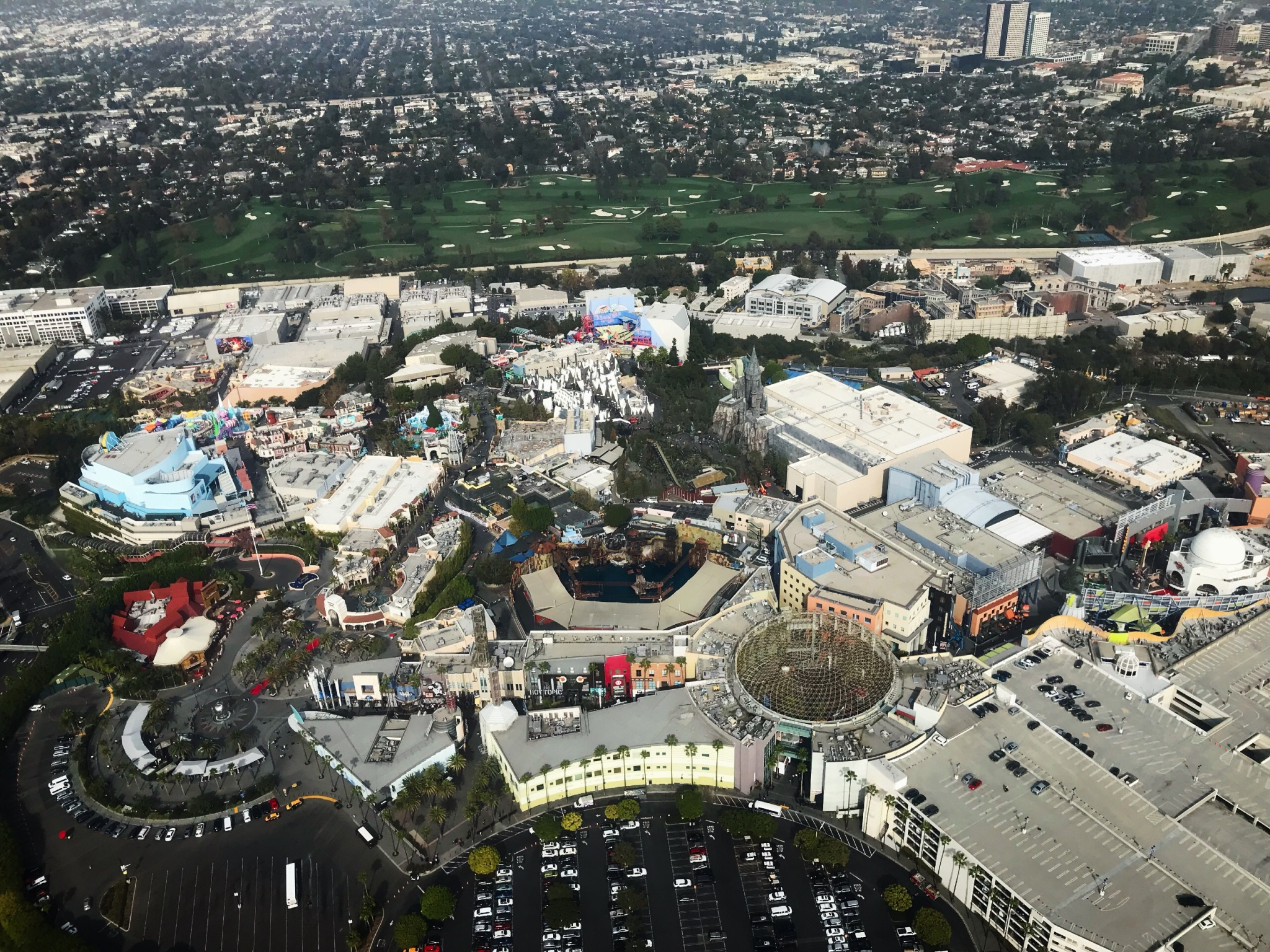 Universal Studios Park view from helicopter
