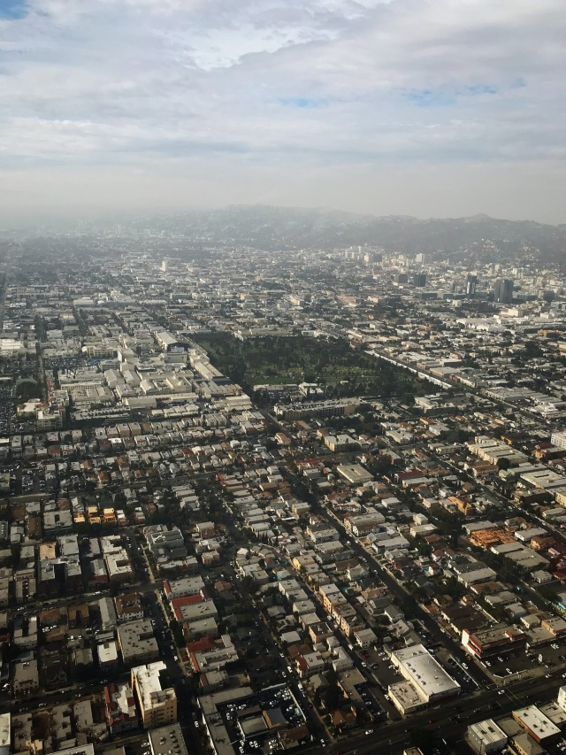 Hollywood Forever Cemetary view from helicopter