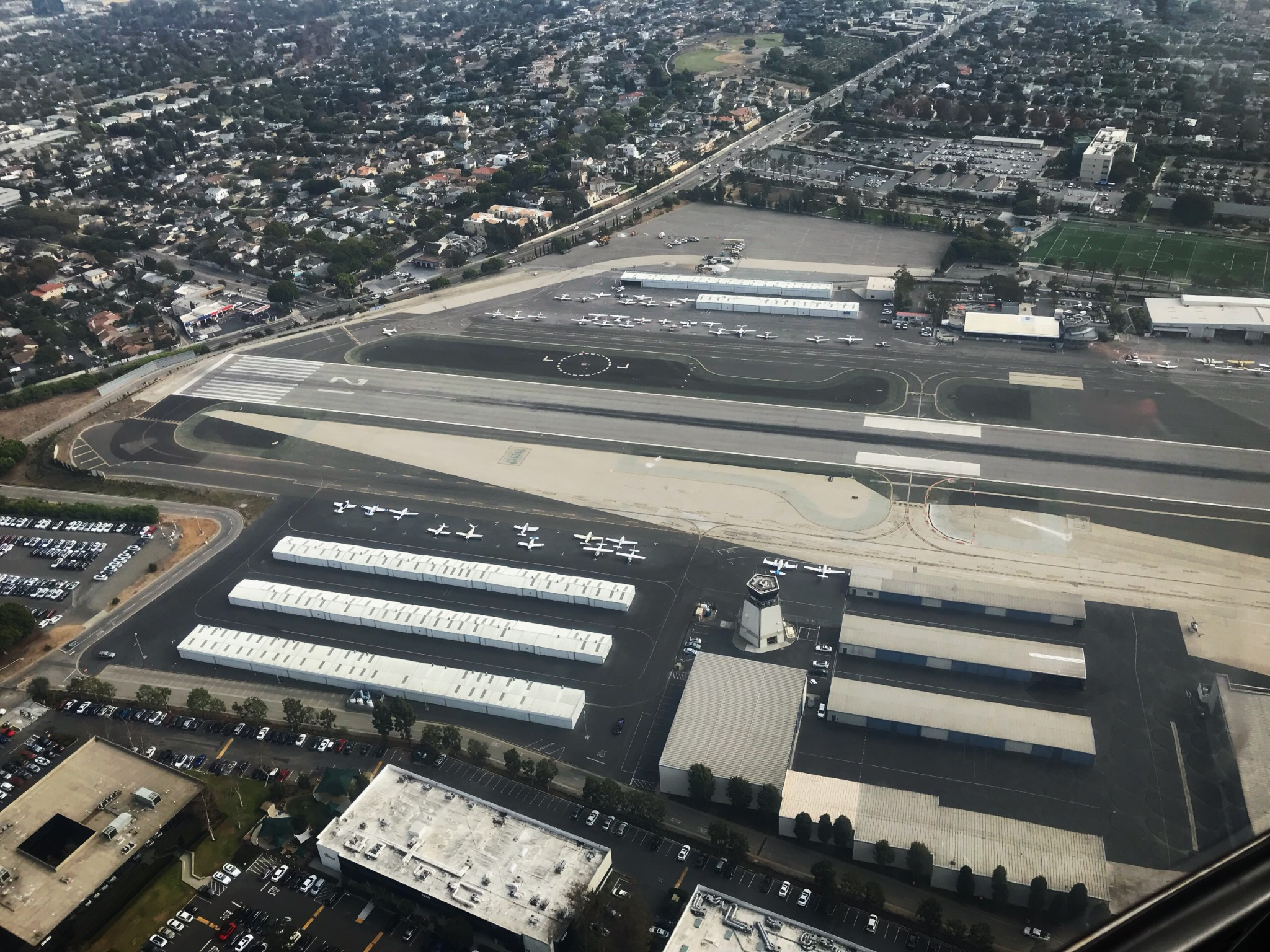 Santa Monica Airport view from helicopter