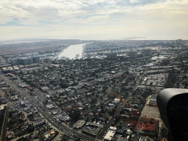 Marina del Rey view from helicopter