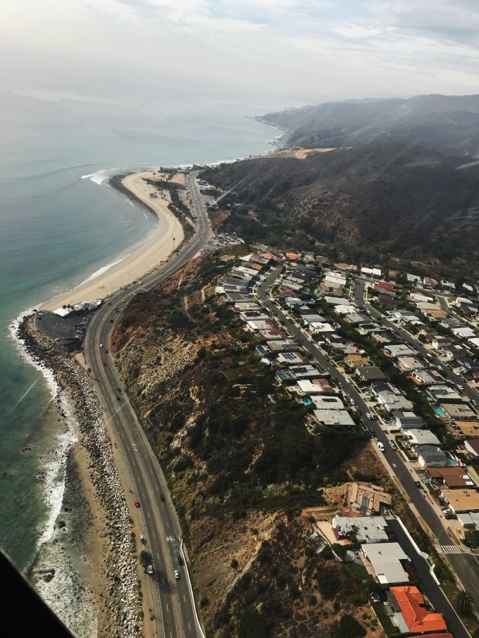 Malibu view from helicopter
