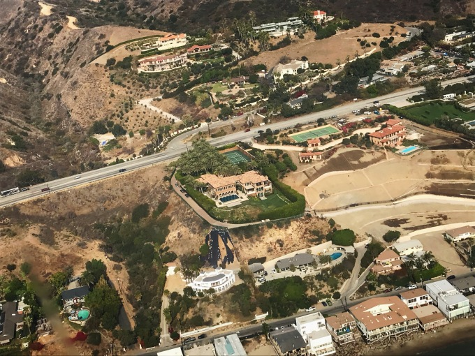 Beyonce Malibu house helicopter view