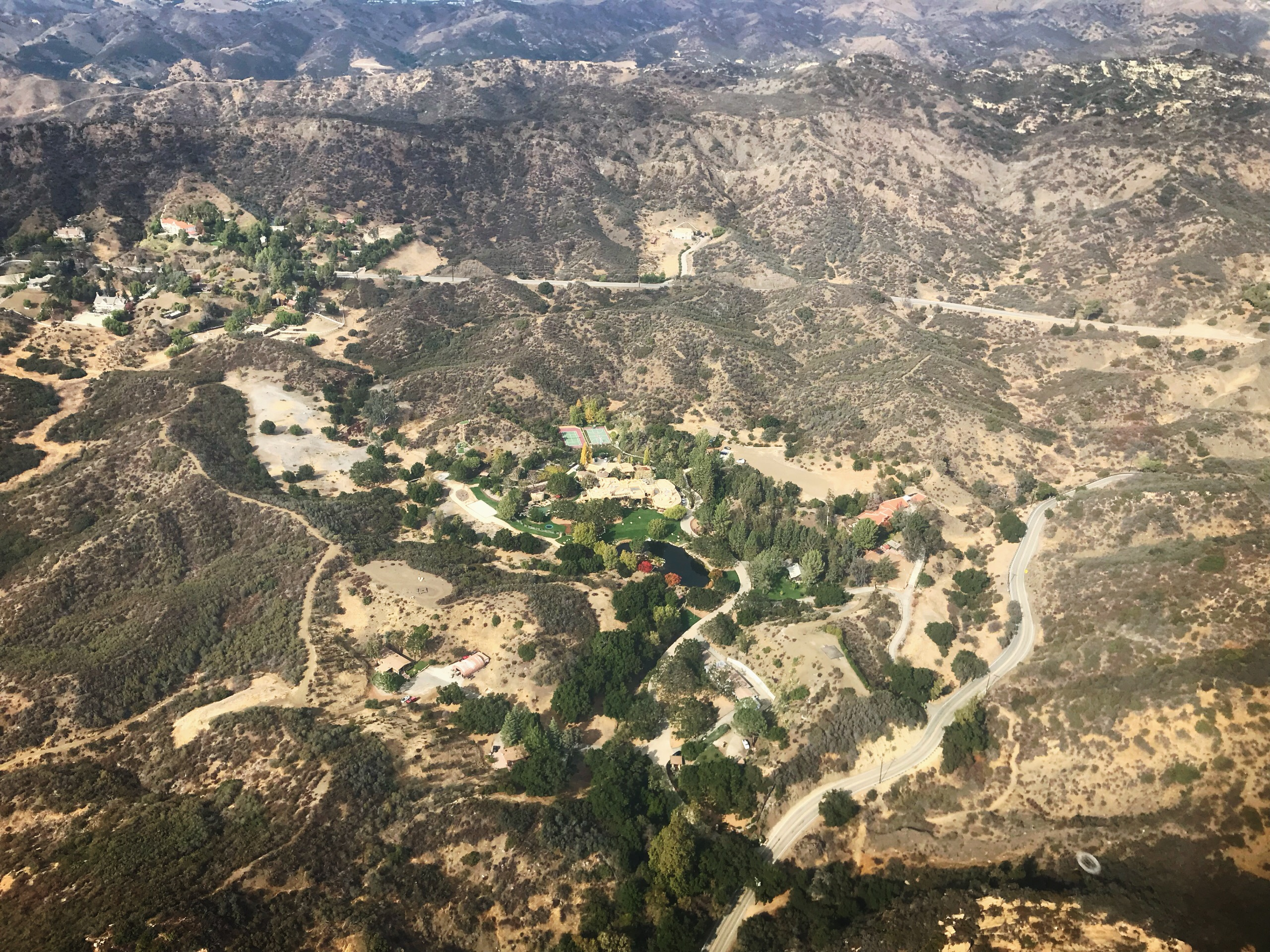 Will Smith Calabasas house helicopter view