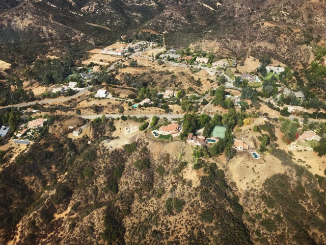 Calabasas helicopter view