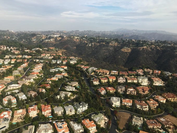 Calabasas helicopter view 3