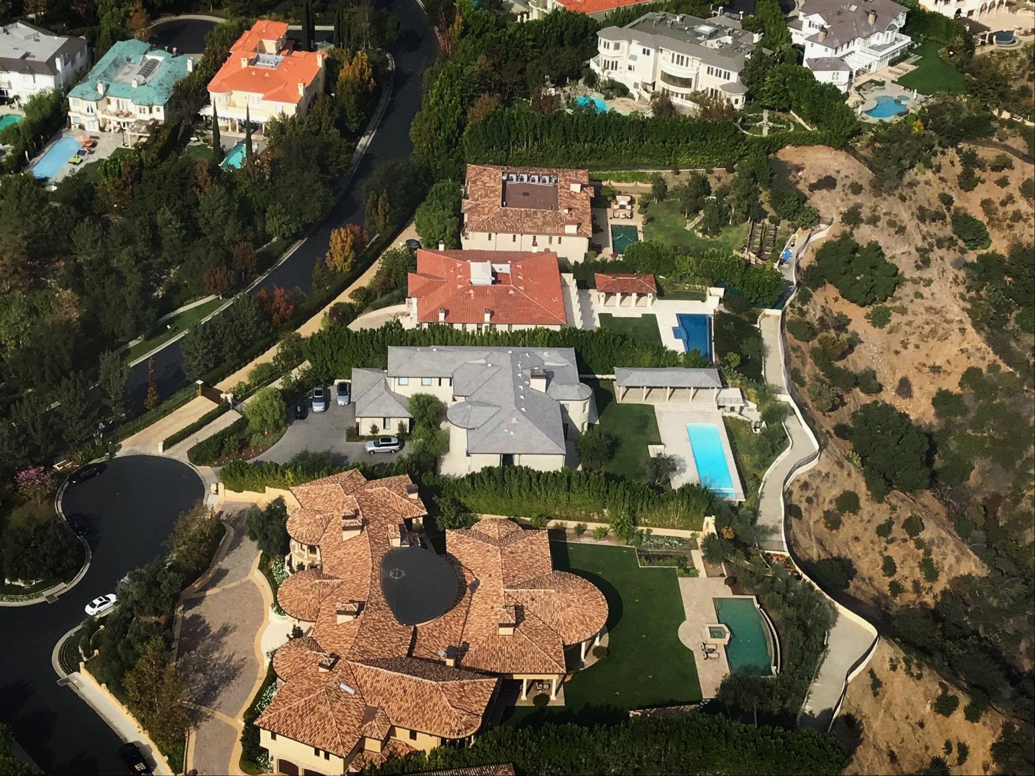Kim Kardashian and Kanye West house helicopter view 2