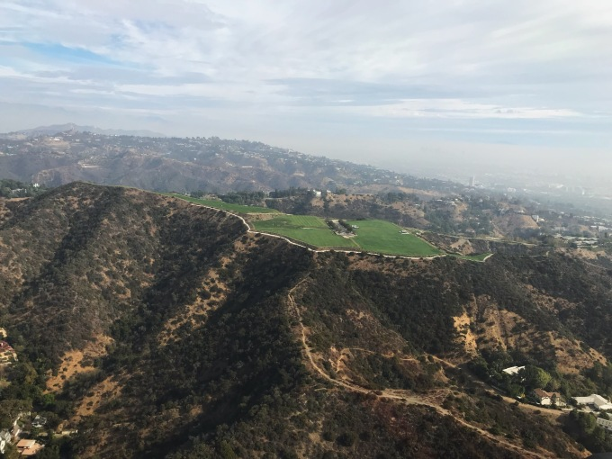 Beverly Crest helicopter view