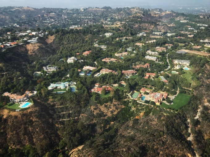Beverly Crest helicopter view 2