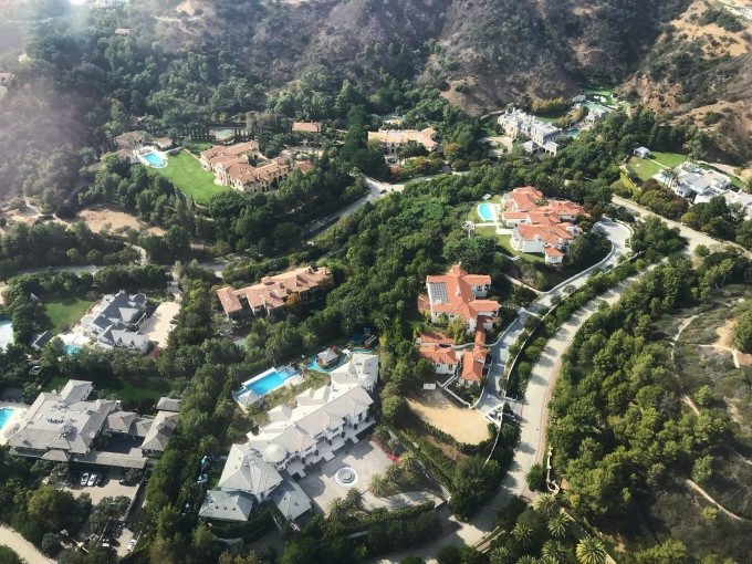 Beverly Crest helicopter view 3