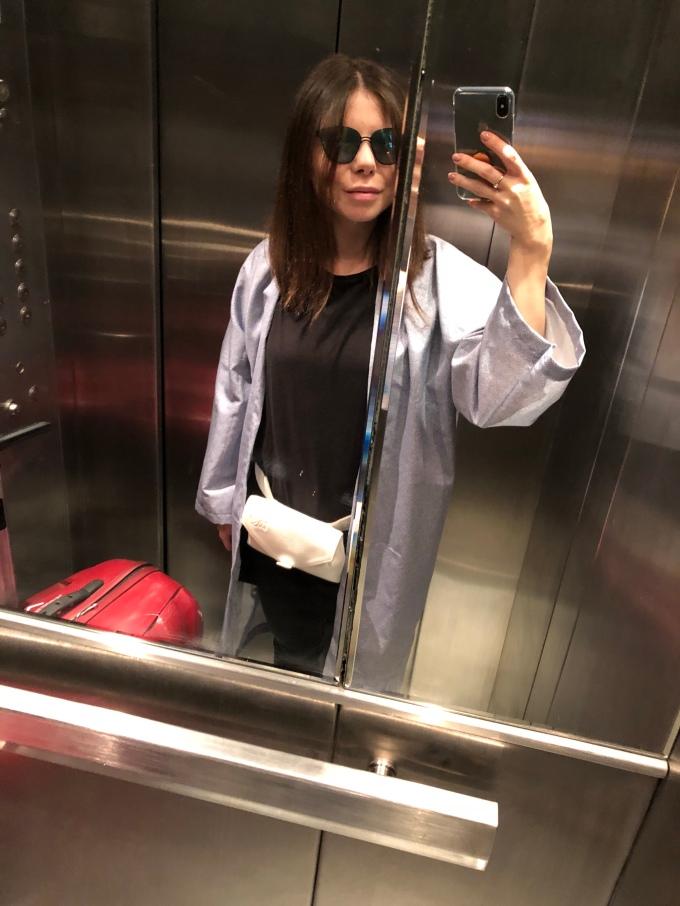 Kimono bleu in lift